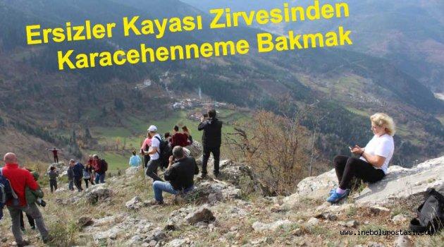 Ersizlerdere Kayalıkları Zirvesine Trekking Yürüyüşü