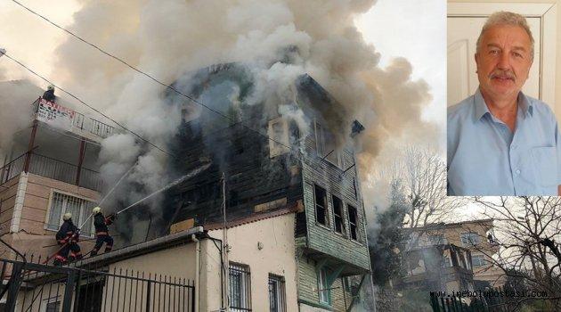 Hasan Duru'nun Üsküdar'daki evi yandı!