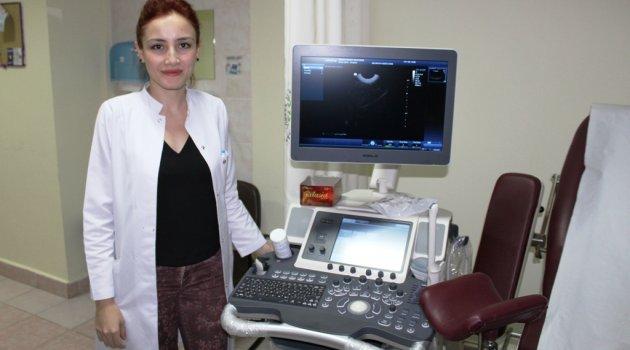 Hastaneye yeni 4 boyutlu ve renkli ultrason cihazı geldi