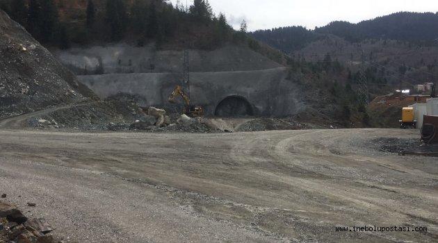 İnebolu Yolu Tünel İnşaatında Çalışma Durdu