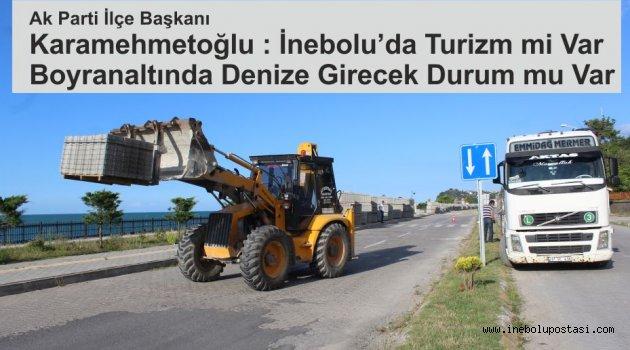 Karamehmetoğlu; Ne turizm mi, Boyran Altında denize girecek durum mu var.
