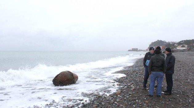 Kıyıya Vuran Gemi Şamandırası Bomba Sanıldı