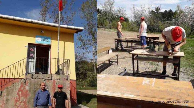 Kuzluk Köyü İlkokulu El Birliğiyle Onarılıyor