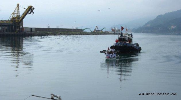 Deniz Kuvvetleri Atatürk Rallisi İle Uzmar Dragon Bot Takımı İnebolu Limanı'na Ulaştı