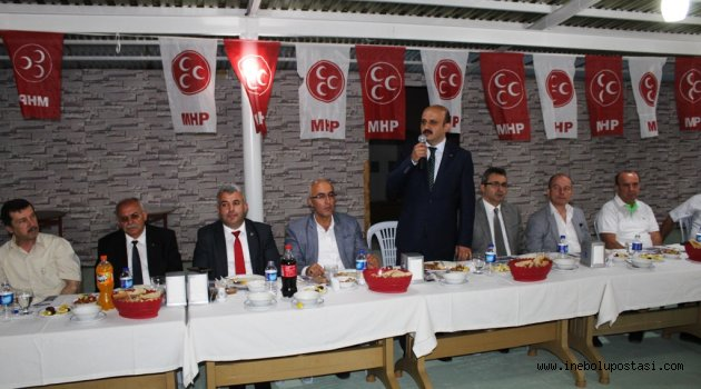MHP vekil adayları muhtarlarla buluştu