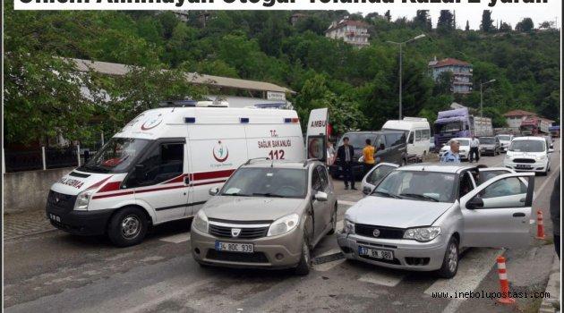Otogar Yolunda Kaza: 2 Yaralı