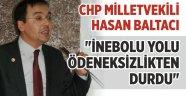 'İNEBOLU YOLU ÖDENEKSİZLİKTEN DURDU'
