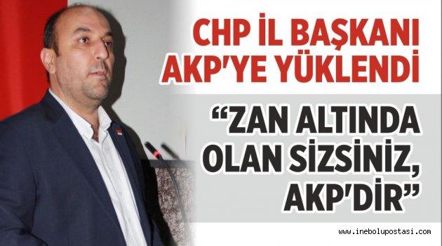 'ZAN ALTINDA OLAN SİZSİNİZ, AKP'DİR'