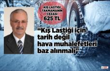 Başkan Ercankal'dan Kış Lastiği uyarısı