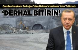 Cumhurbaşkanı Erdoğan'dan Bakan'a İnebolu...