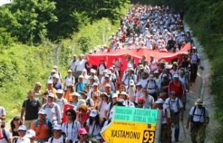 Atatürk ve İstiklal Yolu Yürüyüşü 9 Haziran...