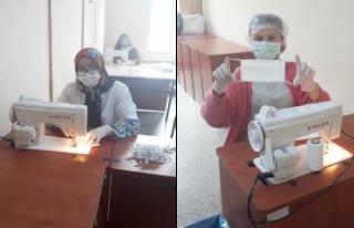 Halk Eğitim Merkezinde maske üretiliyor