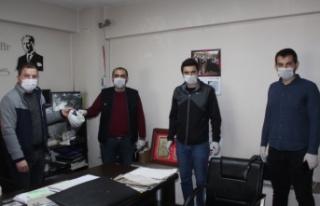 İnebolu Türk Eğitim Sen 180 adet siperlik maske...