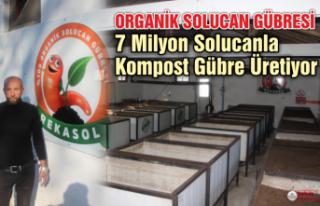 7 Milyon Solucanla Kompost Gübre Üretiyor