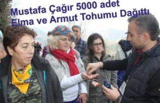 5000 Adet Elma ve Armut Tohumu Dağıttı