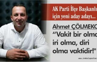 AK Parti İlçe Başkanlığı için yeni aday adayı