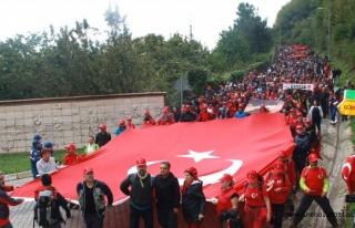 Atatürk ve İstiklal Yolu Yürüyüşü Başladı