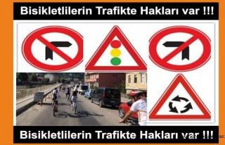 Bisikletlilerin de Trafikte Hakları Var !!!