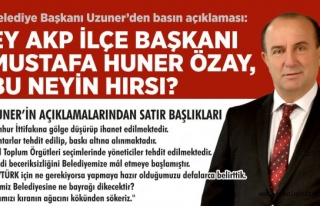 Ey! AKP İlçe Başkanı Mustafa Huner ÖZAY, bu neyin...