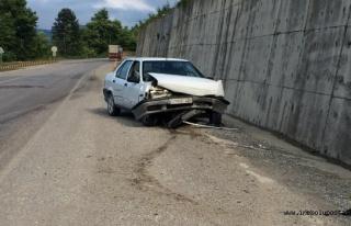 İnebolu İkiçay Mevkisinde Kaza: 1 Yaralı