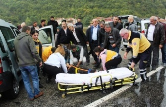 MUSA KÖYÜ KÖPRÜSÜNDE KAZA: 2 Yaralı