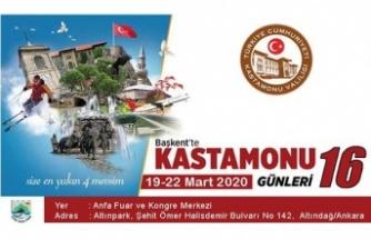 Başkent'te Kastamonu Günleri 19-22 Mart'ta