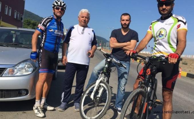 Bisikletle İnebolu Turu Düzenliyorlar