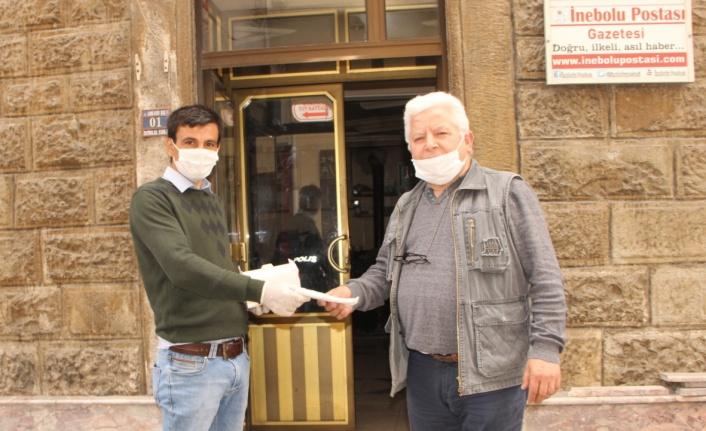 İnebolu TSO'dan 4 bin adet maske desteği