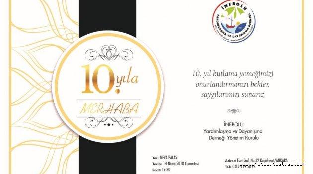 Ankara Dernek 10. yılını kutluyor