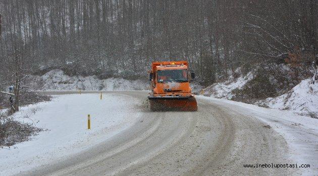 İnebolu'da 50 köy yolu ulaşıma kapalı