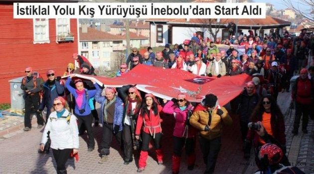 İstiklal Yolu Kış Yürüyüşü İnebolu Limanından Start Aldı