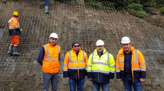 Milletvekii Murat Demir Ersizlerdere Viyadük şantiyesinin inşaatını ziyaret etti