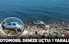 Otomobil denize uçtu: 1 yaralı