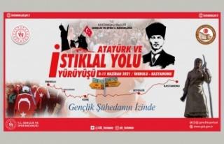 Atatürk ve İstiklal Yolu Yürüyüşü'nde tarih...