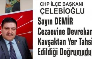 CHP İlçe Başkanı Hasan Çelebioğlu