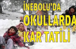 İnebolu'da Okullarda Kar Tatili