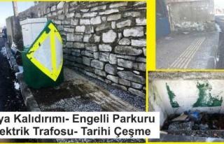 Yaya Kaldırımında Tarihi Çeşme ve Engelli Çizgisi...