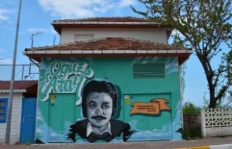 Trafo duvarları sanata dönüştürülüyor