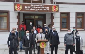 """KGC Başkanı Erkan Yılmaz """"Gazeteciler asla yalnız ve sahipsiz değildir"""""""